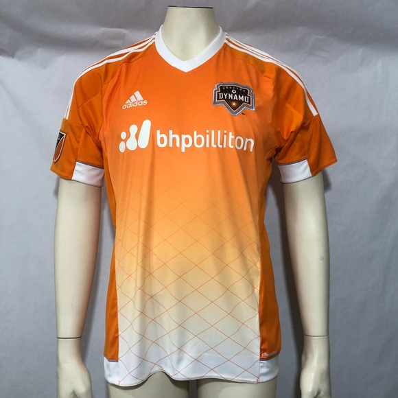 new arrival f0c83 9297a Adidas Men Sz M MLS Houston Dynamo Replica Jersey NWT